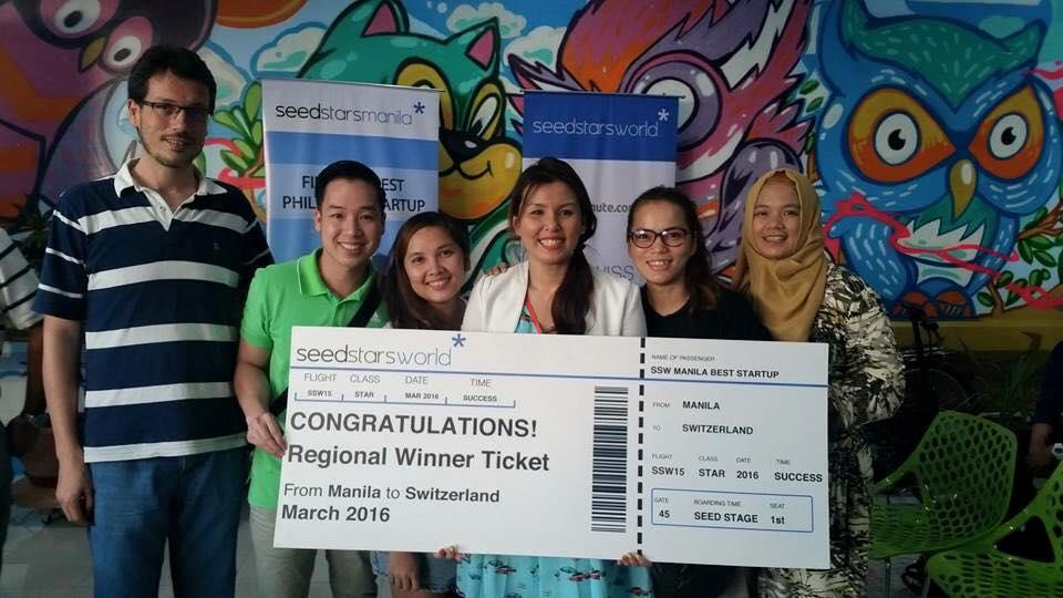 Winning Seedstars World Manila 2015 with some of GMH's kitchen merchants